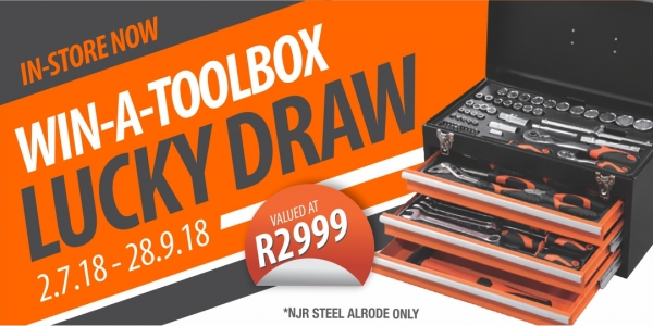 NJR Steel Alrode WIN-A-TOOLBOX Promotion