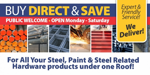 NJR Steel Polokwane Supplies all your Steel, Paint and Steel Related Hardware under one roof