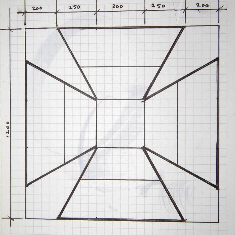 Draw this design on your steel sheet.